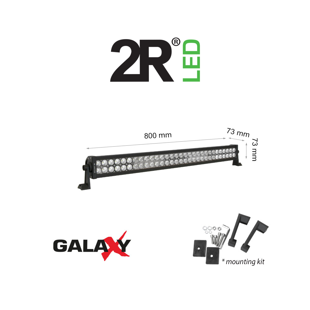 "Автомобилен LED Бар, 2R LED, GALAXY LBL CS, 12V, 180W, 6000K, 31"", 800mm, Combo"